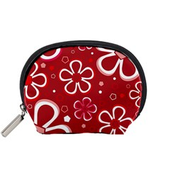Flower Red Cute Accessory Pouches (small)  by Jojostore