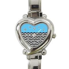 Color Block Jpeg Heart Italian Charm Watch by Jojostore