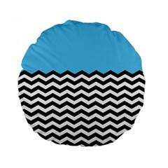 Color Block Jpeg Standard 15  Premium Flano Round Cushions by Jojostore