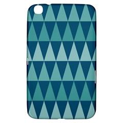 Blues Long Triangle Geometric Tribal Background Samsung Galaxy Tab 3 (8 ) T3100 Hardshell Case  by Jojostore