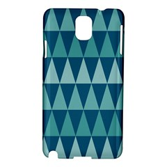 Blues Long Triangle Geometric Tribal Background Samsung Galaxy Note 3 N9005 Hardshell Case by Jojostore