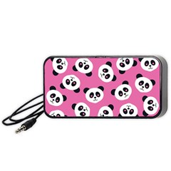 Cute Panda Pink Portable Speaker (Black)  by Jojostore