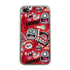Agghh Pattern Apple Iphone 4 Case (clear) by Jojostore