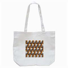 Face Cat Yellow Cute Tote Bag (white) by Jojostore
