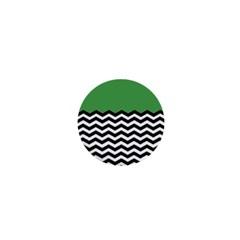 Lime Green Chevron 1  Mini Buttons by Jojostore