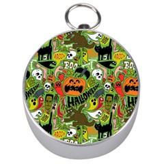 Halloween Pattern Silver Compasses by Jojostore