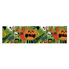 Halloween Pattern Satin Scarf (oblong) by Jojostore
