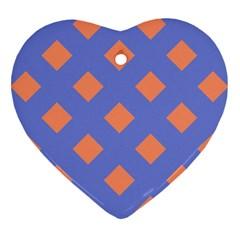 Orange Blue Heart Ornament (2 Sides) by Jojostore