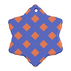 Orange Blue Snowflake Ornament (2 Side) by Jojostore