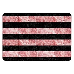 Stripes2 Black Marble & Red & White Marble Samsung Galaxy Tab 8 9  P7300 Flip Case by trendistuff