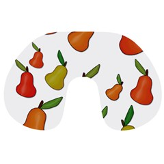 Decorative Pears Pattern Travel Neck Pillows by Valentinaart