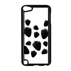 Black Strowberries Apple Ipod Touch 5 Case (black) by Valentinaart