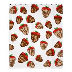 Chocolate Strawberries  Shower Curtain 60  X 72  (medium)  by Valentinaart