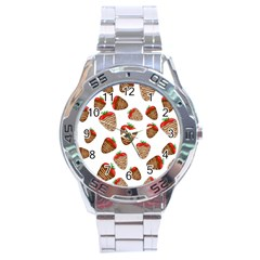 Chocolate Strawberries  Stainless Steel Analogue Watch by Valentinaart
