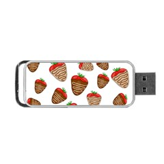Chocolate Strawberries  Portable Usb Flash (two Sides) by Valentinaart