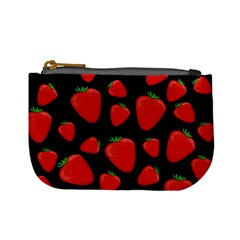 Strawberries Pattern Mini Coin Purses by Valentinaart