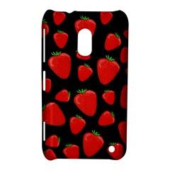 Strawberries Pattern Nokia Lumia 620 by Valentinaart