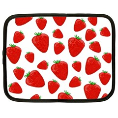 Decorative Strawberries Pattern Netbook Case (xl)  by Valentinaart