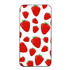 Decorative Strawberries Pattern Apple Iphone 4/4s Seamless Case (black) by Valentinaart
