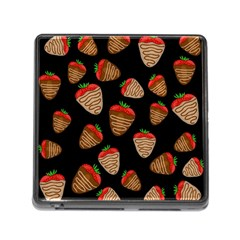 Chocolate Strawberries Pattern Memory Card Reader (square) by Valentinaart