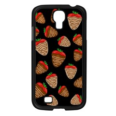 Chocolate Strawberries Pattern Samsung Galaxy S4 I9500/ I9505 Case (black) by Valentinaart