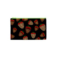 Chocolate Strawberries Pattern Cosmetic Bag (xs) by Valentinaart