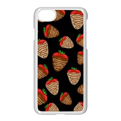 Chocolate Strawberries Pattern Apple Iphone 7 Seamless Case (white) by Valentinaart