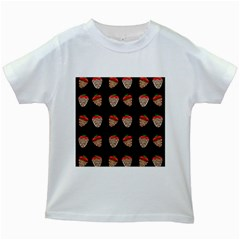 Chocolate Strawberies Kids White T Shirts by Valentinaart