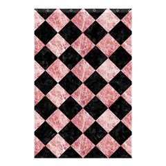 Square2 Black Marble & Red & White Marble Shower Curtain 48  X 72  (small) by trendistuff