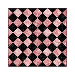 Square2 Black Marble & Red & White Marble Acrylic Tangram Puzzle (6  X 6 ) by trendistuff