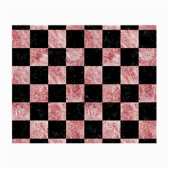 Square1 Black Marble & Red & White Marble Small Glasses Cloth by trendistuff
