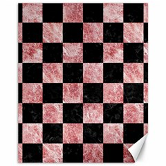 Square1 Black Marble & Red & White Marble Canvas 11  X 14  by trendistuff