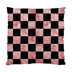 Square1 Black Marble & Red & White Marble Standard Cushion Case (one Side) by trendistuff