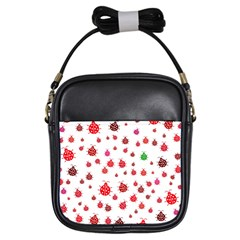 Beetle Animals Red Green Fly Girls Sling Bags by Amaryn4rt