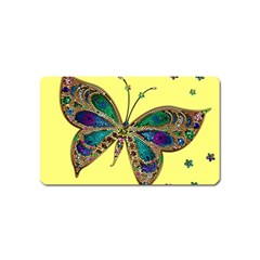 Butterfly Mosaic Yellow Colorful Magnet (name Card) by Amaryn4rt