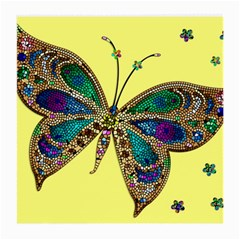 Butterfly Mosaic Yellow Colorful Medium Glasses Cloth by Amaryn4rt