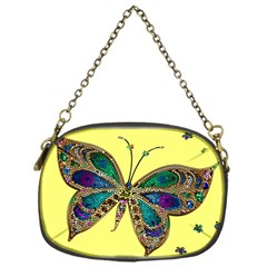 Butterfly Mosaic Yellow Colorful Chain Purses (one Side)  by Amaryn4rt