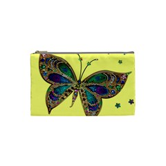 Butterfly Mosaic Yellow Colorful Cosmetic Bag (small)  by Amaryn4rt