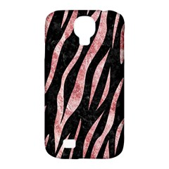 Skin3 Black Marble & Red & White Marble Samsung Galaxy S4 Classic Hardshell Case (pc+silicone) by trendistuff