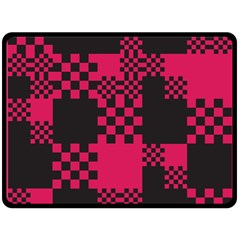 Cube Square Block Shape Creative Double Sided Fleece Blanket (large)  by Amaryn4rt