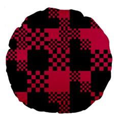 Cube Square Block Shape Creative Large 18  Premium Flano Round Cushions by Amaryn4rt
