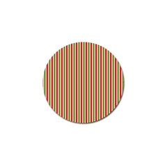 Pattern Background Red White Green Golf Ball Marker by Amaryn4rt