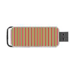 Pattern Background Red White Green Portable Usb Flash (one Side) by Amaryn4rt