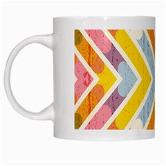 Line Pattern Cross Print Repeat White Mugs by Amaryn4rt