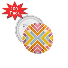Line Pattern Cross Print Repeat 1 75  Buttons (100 Pack)  by Amaryn4rt