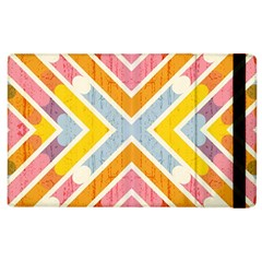 Line Pattern Cross Print Repeat Apple Ipad 3/4 Flip Case by Amaryn4rt