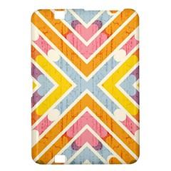 Line Pattern Cross Print Repeat Kindle Fire Hd 8 9  by Amaryn4rt