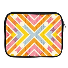 Line Pattern Cross Print Repeat Apple Ipad 2/3/4 Zipper Cases by Amaryn4rt
