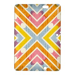 Line Pattern Cross Print Repeat Kindle Fire Hdx 8 9  Hardshell Case by Amaryn4rt