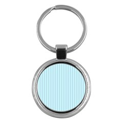 Stripes Striped Turquoise Key Chains (round)  by Amaryn4rt